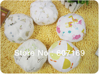 100% Cotton Baby Hat / 0-3 Months Baby Hat / Mix Color / 10pcs/color and 100pcs/lot + Free shipping