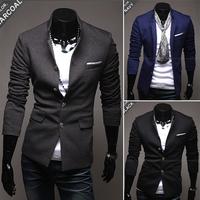 Senior fabric male coat stand collar fashionable casual blazer 2230