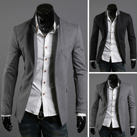 Outerwear collar color block male fashion outerwear blazer 2227