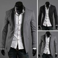 Outerwear collar color block male fashion outerwear blazer 2227