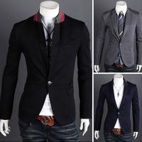 2013 spring coat male neckline blazer outerwear 2628