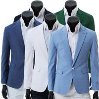 Fashion male 2013 suit one button casual suit jacket