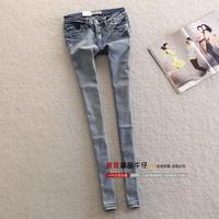 Star slim hip slim skinny jeans pencil pants female denim