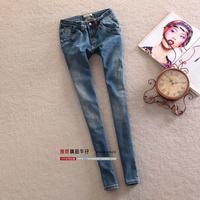 Autumn slim elastic jeans female skinny pants pencil pants 2013 butt-lifting