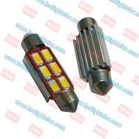 Constant Current Design 20PCS/LOT  6 LEDSMD5630 Sink canbus,C5W CAR LIGHT,FESTOON 39MM CANBUS,C5W 39MM
