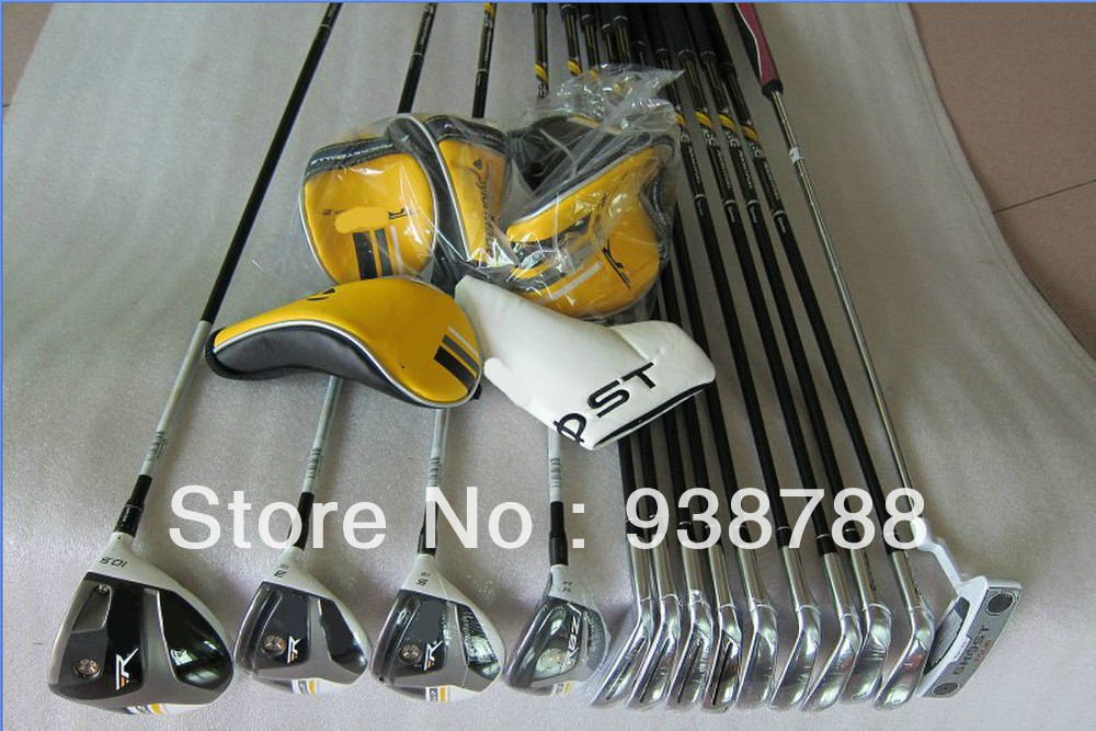NEW stage2 golf clubs Complete Club Sets 3wood+Bladez irons+Hybrid+Putter Right/graphite shaft(no bag)FREE SHIPPING(China (Mainland))