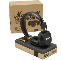 Marshall Major With Microphone & Remote On-Ear Pro Stereo Headphone Black white color available 100% New&genuine Free shipping