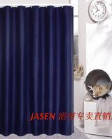 Js4350 terylene fabric waterproof bathroom shower curtain solid color