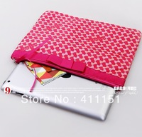 2013 New Hot Sale + Free Shipping Rose Red Fashion Beautiful  Zipper Bag Storage bag for Ipad