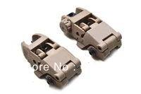 Wholesale! 10pcs/lot PTS MBUS Front & Rear Back-Up Sight Set Tan Color Polymer