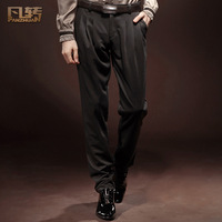 Royal wind series of casual fashion mid waist slim pleated 13861 harem pants