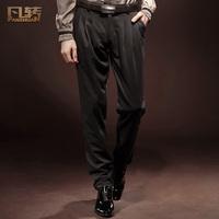 Royal wind series of casual fashion mid waist slim pleated 13861 harem pants