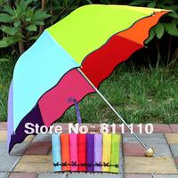 Color Umbrellas 2013 New Arrival fashion Rain Gear folding convenient Size 89CM*65CM 7 Colors Good Quality