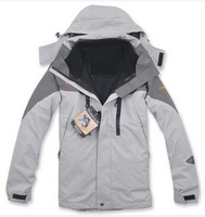 HOT ! Free shipping 2013 autumn winter New Waterproof, breathable Outdoor, mountain hiking, man jacket coat lining+hood