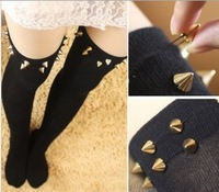 Ribenyuandan handmade rivets boots socks knee socks cotton socks in boots / socks Tall Women