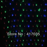 1 Set Christmas decorations120pcs head of lamps LED net light decorative light curtain light Christmas lights