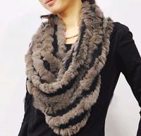 2015 new genuine rabbit fur women natural rabbit fur scarf free shippping TF0494