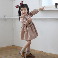 Children's clothing child female child spring and autumn medium-long trench dress overcoat outerwear 0228