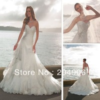 WB8005 Fantastic High Quality Made Designer Lace Wedding Dress With Swarovski Crystal