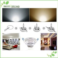 5pcs/lot  AC 85-265V Day White / Warm White LED Ceiling Light Lamps With 3W / 5W / 7W Led Light Lamp Freeshipping