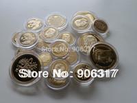 Wholesale 22pcs/lot Free shipping High quality Russian Gold clad Replica Souvenir coins