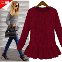 Pullovers ON Sale promotion Clothing pullover twisted slim one-piece dress thickening sweater  Cheap HOT