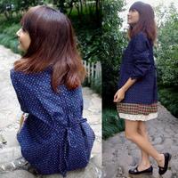 100% cotton maternity clothing autumn fashion maternity 2013 long-sleeve dress plus size loose maternity dress