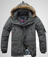 2013 free shipping ! men sports leisure hooded brought unginned cotton coat cotton-padded jacket 168