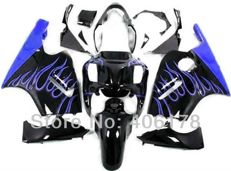 Hot Sales,Best price ZX-12R 00-01 ZX 12R 2000 2001 For Kawasaki Ninja ZX12R 2000-2001 Blue Flame Race Bike Fairings(China (Mainland))