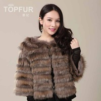 Free Shipping Wholesale 2013 rabbit fur coat sleeve women's wrist-length short design