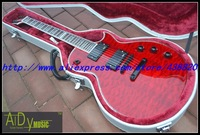 Wholesale - custom shop RED electric guitar 2013 New Style flower binding L T D DELUXE Chinese guitar