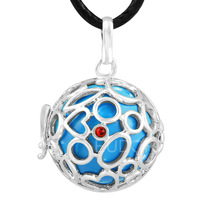 6PICS/lot  Sounds chime ball Mexico bola Pregnancy mommy Pendant  belly bali Necklace with cage 6H27A06