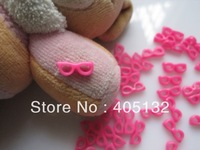 RC-176-4 200pcs/bag Nail Resin Decoration Lovely Hot Pink Glasses Shape Nail Art Decorations Cellphone Decorations