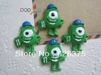 Wholesale Mike Wazowski, Resin Flatback Flat Back Cabochons for Embellishment, Hair Bow Center, DIY Free Shipping