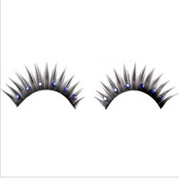 5Pairs/lot High Quality Fake False Eyelashes Eye Lash Makeup with Blue Diamond free shipping