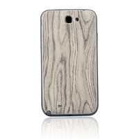 White Wood Grain PU leather Battery Cover Case Back Door For Samsung Galaxy NOTE 2 II N7100 I317 T889