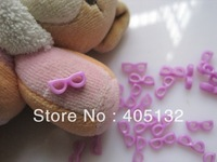 RC-176-7 200pcs/bag Nail Resin Decoration Lovely Purple Glasses Shape Nail Art Decorations Cellphone Decorations