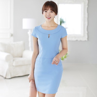 1004 women's 2013 short-sleeve ol elegant slim hip ml112 one-piece dress