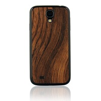 Brown Wood Grain PU leather Battery Cover Case Back Door For Samsung Galaxy S4 I9500 I337 I545 M919