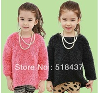 children sweater princess' knitwear thicker+ Necklace free shiping girls' sweatshirt sweater outerwear fashion elegant coat