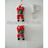 Free Shipping New Arrive Climb a ladder With Two Santa Claus Xmas Ornament Christmas gift Christmas decoration