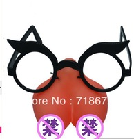 Free shipping, breast shape, fun glasses, double fun, gender flirting, couple supplies, adult products