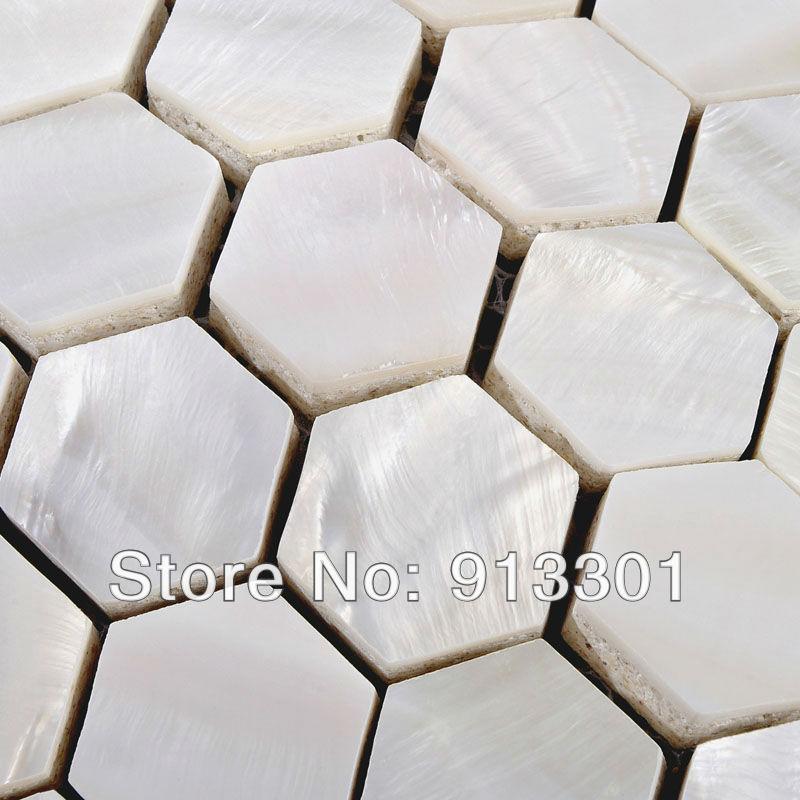 Azulejos Hexagonales Baño:Pearl Shell Tile Hexagon Bathroom