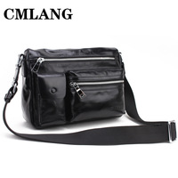 Male messenger bag genuine leather bag casual bag small bag  vintage multifunctional bags