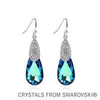 2013 New Design! Crystal drop pendant earrings made with Swarovski Elements