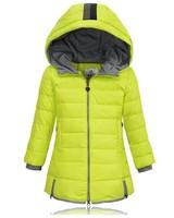 2014 autumn winter children's down coat outerwear kids girl Winter wadded jacket child thickening children's down coat hooded