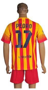 Factory price custom made ANY LOGO football tops jersey suits THIAGO MASCHERANO SERGIO PEDRO MESSI
