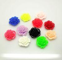 Free Shipping 60pcs/lot Mixed Rose Resin Beads Flatback Cabochon Scrapbook Fit Phone Embellishment 20mm