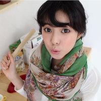 hot women winter scarf fashion style silk scarf polka velvet scarf chiffon Bohemia Scarf free shipping (SC009)