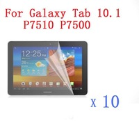 "10 X High Clear Transparent Screen Protector / Guard For Samsung Galaxy Tab 10.1"" P7510 P7500  10 PCS/Lot"